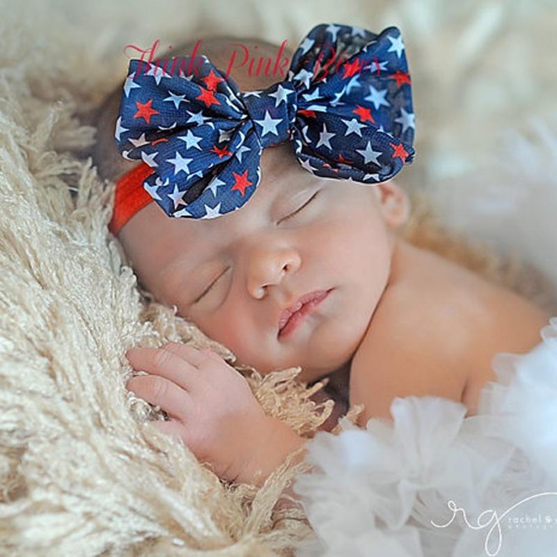 New Big Bow Baby Headband for Baby Girl Hair Accessories Chiffon Hair Bow Headband Infant Hair Accessories 5 PCS/lot(China (Mainland))