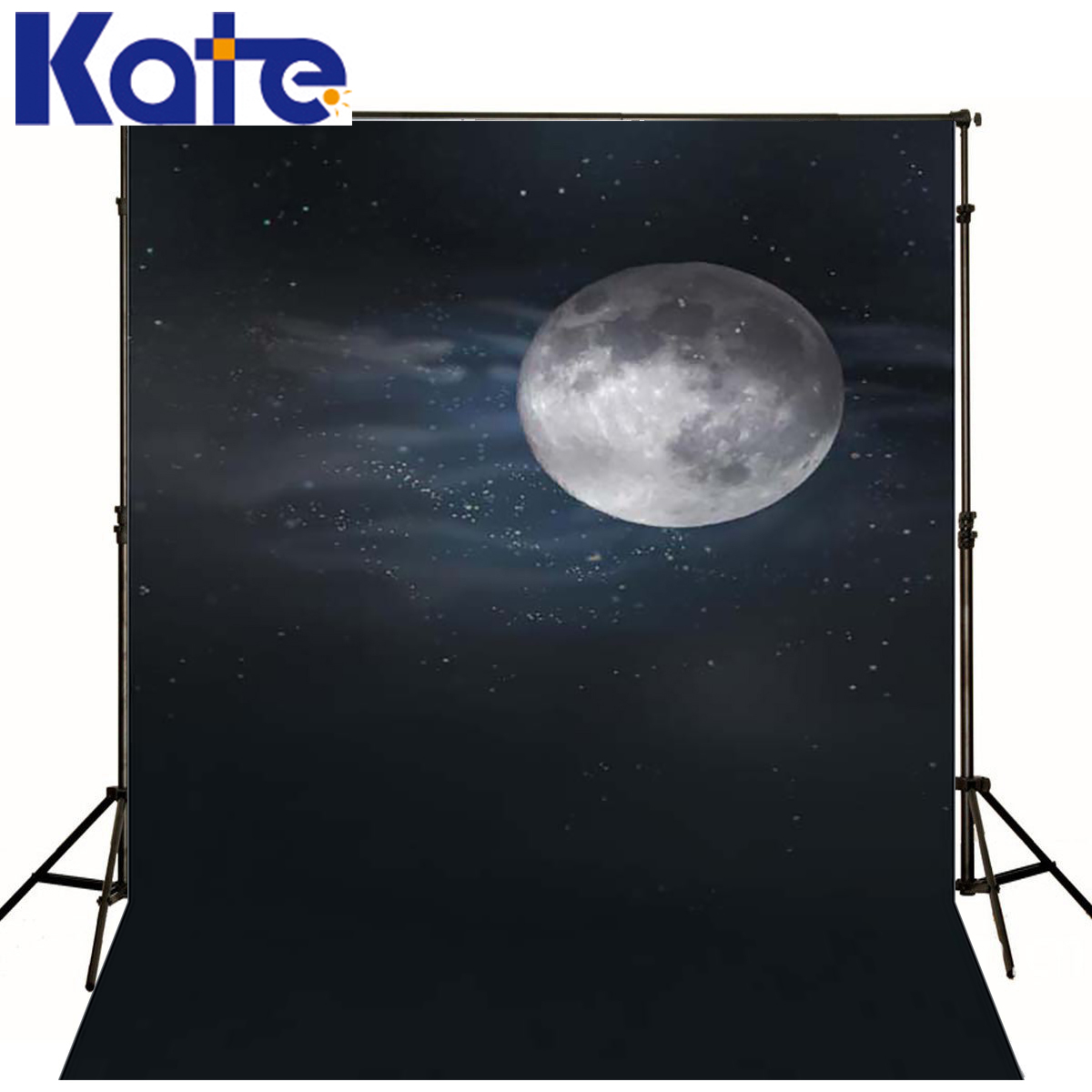 Photography background night of the full moon newborn boy props space kate backdrops