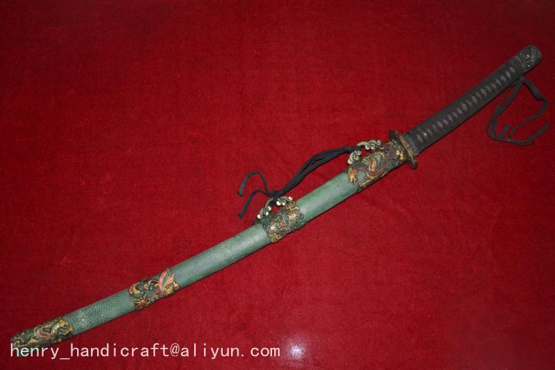 Collectable Old WWII Japanese Samurai Katana DAO sword Sharkskin