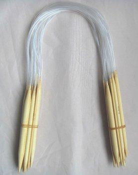 "1X18 Sizes 16"" Circular Bamboo Knitting Needles 40cm free shipping"