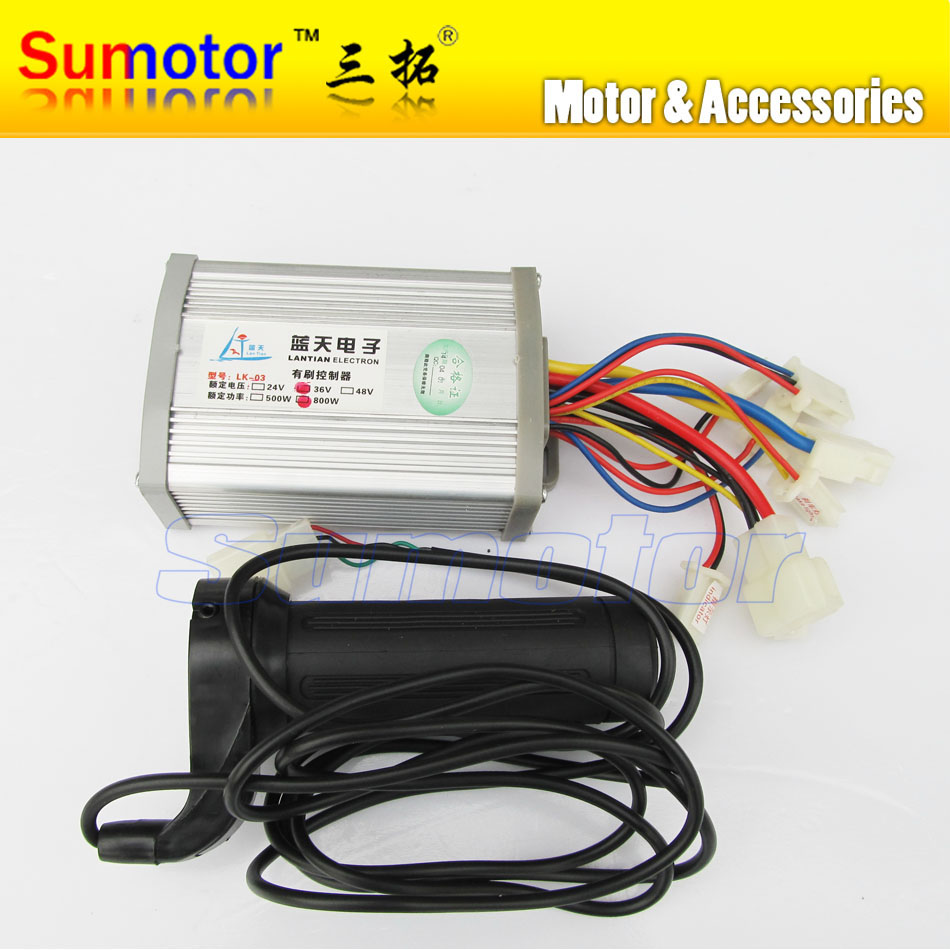 Dc 36v 800w brush motor speed controller with handle for for 36v dc motor controller