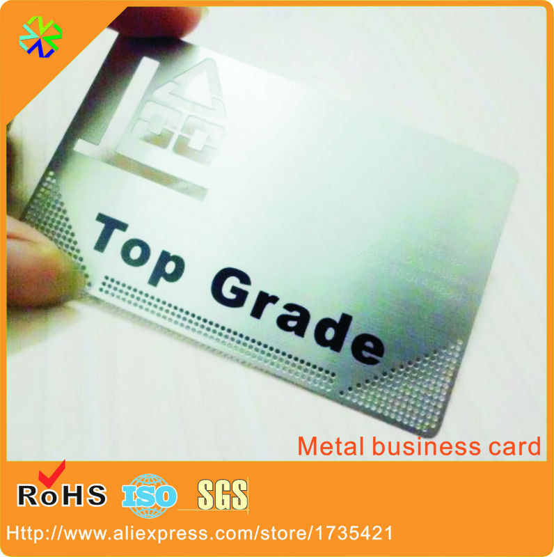 factory price words etching black printing top grade 0.3mm thickness size custom metal card<br><br>Aliexpress