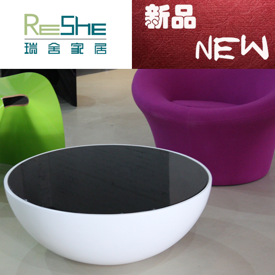 Semicircle coffee table coffee a few words of a few hundreds of new export quality circular edge minimalist creative fashion(China (Mainland))