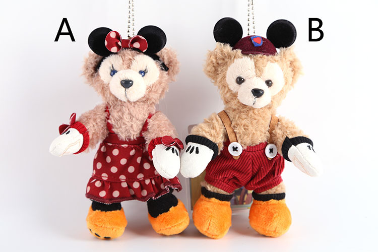 Cartoon Duffy Bear and Shelliemay Halloween Edition Cute 14cm Plush Toys Keychain Pendant Stuffed Dolls Children Birthday Gift(China (Mainland))