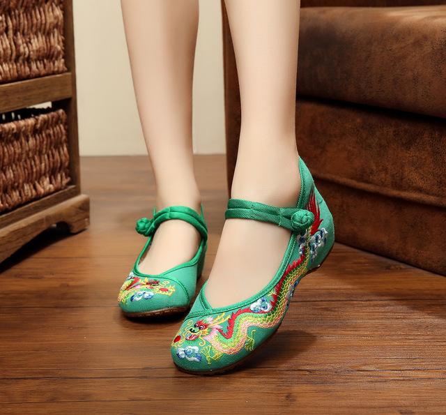Новый урожай вышивка обувь китайские старые пекин дракон вышитые ткани обувь национальный ...