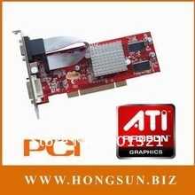100% NEW AR 9200 PCI 128MB S-video VGA DVI Low Profile Video Card Free shipping by HKPAM(China (Mainland))
