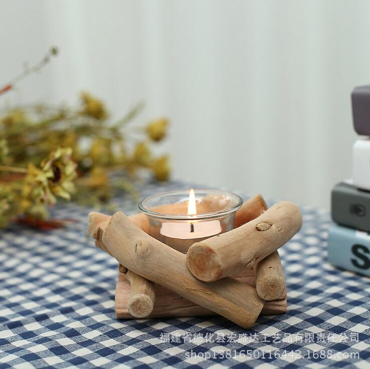 1PC Lovely Handmade Wooden Tealight Candle Holder For Gifts Crafts Ornament Home Furnishing Candle Holder Stand wedding supplies(China (Mainland))
