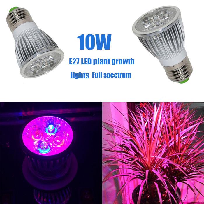 1pcs e27 led grow lamps 7w spotlight flower plant bulbs fhyd