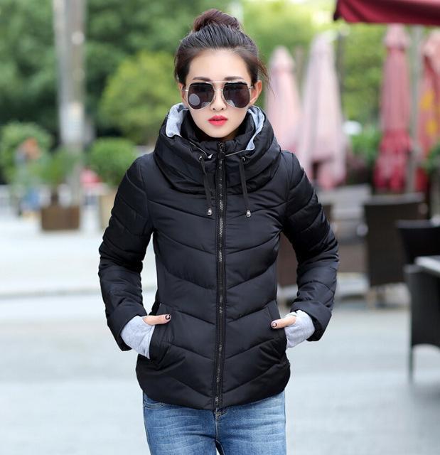 Plus Size 2015 Korean Long Sleeve Warm Light Down Padded Winter Jacket Women Parkas For Women Winter Coat Women Free Shipping