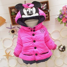 New 2016 girls casual baby clothing winter Minnie coat baby kids coat for children children outerwear & coats,kids jackets(China (Mainland))