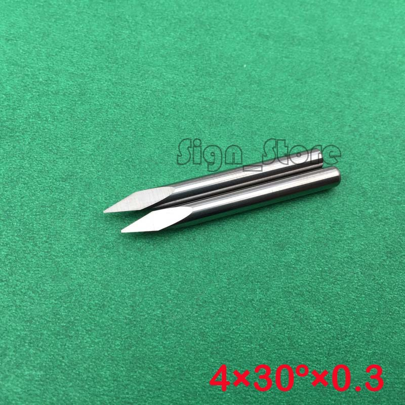 10 pcs Three Edge CNC Router Tools 30Angle 0.3MM Shank 4MM Carbide Router Bits Engraving Cutters for Wood,Stone,Acrylic(China (Mainland))