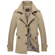 2015 Fashion British Style Autumn Men High Quality Trenchcoat Casual Mens Trench Coats Long Jacket Plus Size 13M0268(China (Mainland))