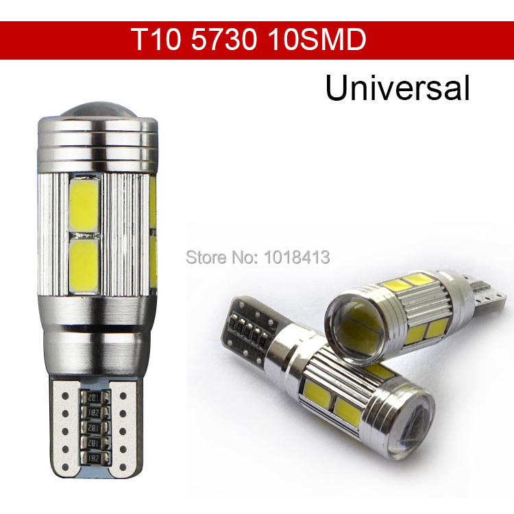 Car Auto LED T10 194 W5W Canbus 10 SMD 5630 5730 LED Light Bulb No error led  parking Fog light  Auto No Error univera car light(China (Mainland))