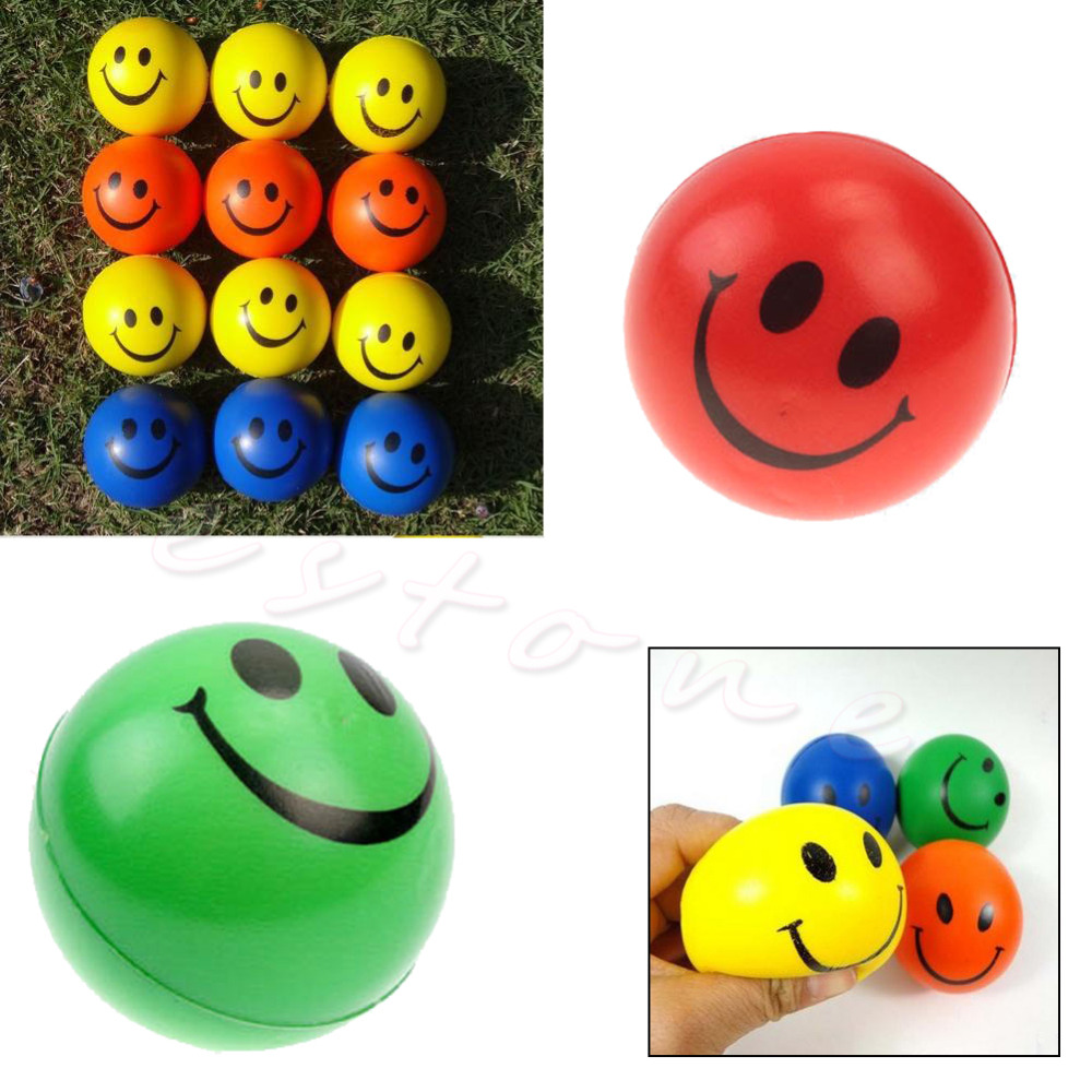 1Pc Funny Soft Smiley Face Anti Stress Reliever Ball Autism Mood Squeeze Relief Toy(China (Mainland))