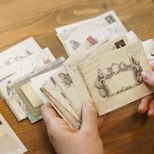 12 штук Мини Симпатичные Ancien бумаги Конверт ретро Урожай Европейский стиль для карты скрапбукинг подарков Бесплатная доставка 804