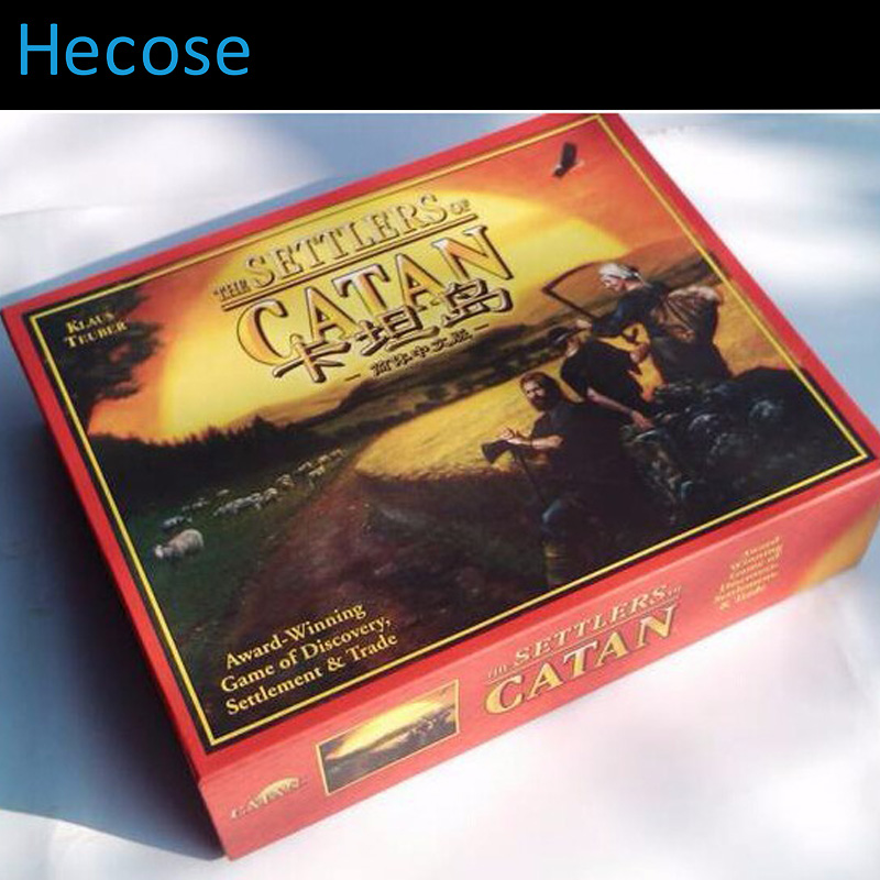 Full english version settlers of catan basic + 6 players expansion pack cards game family game for russia brazil