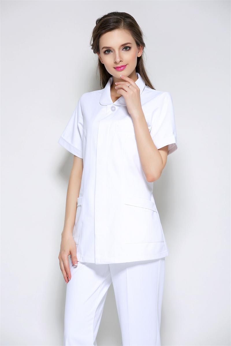 2016 Summer New Women Anti-wrinkle Anti-static Slim Waist Nursing Clothes Uniform Set Hospital Medical Scrub High quality(China (Mainland))