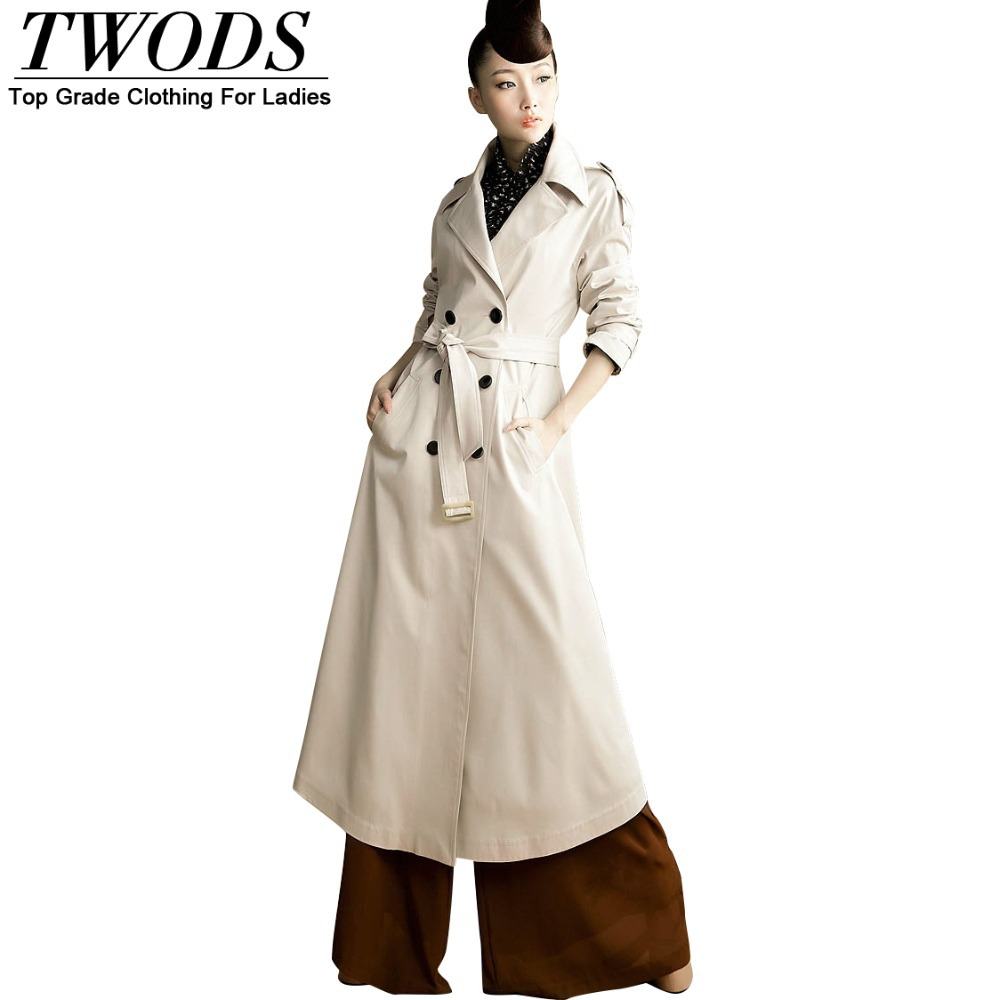 Twods Netched British Style Trench Coat For WomenОдежда и ак�е��уары<br><br><br>Aliexpress