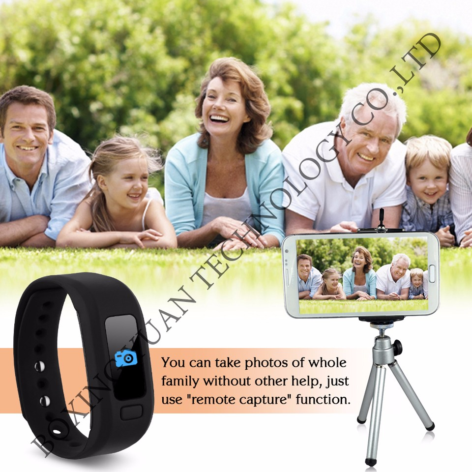 Sport Bluetooth Smart Watch Hot Moving Up Tracker Heart Rate Self Photo Wrist Band Calorie Pedometer Sleep Monitor IOS Android