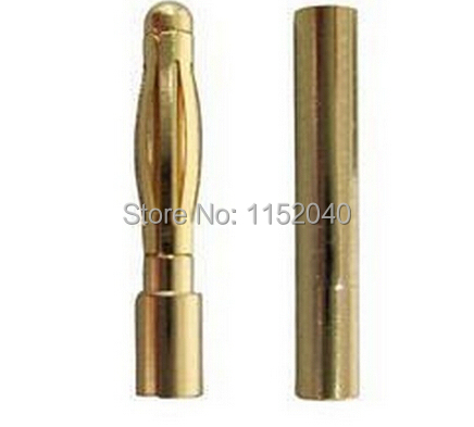 1000 Pairs  2.0MM 2MM 2.0 Gold Bullet Banana  Connector Plug Banana Plugs for ESC Lipo RC Battery Plugs RC parts<br><br>Aliexpress