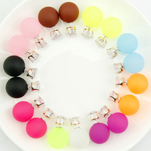 Wholesale Lots 20PCS(10Pairs) AAA Colorful Crystal Stone Woman Stud Earrings +Back Stoppers Women Jewelry(China (Mainland))