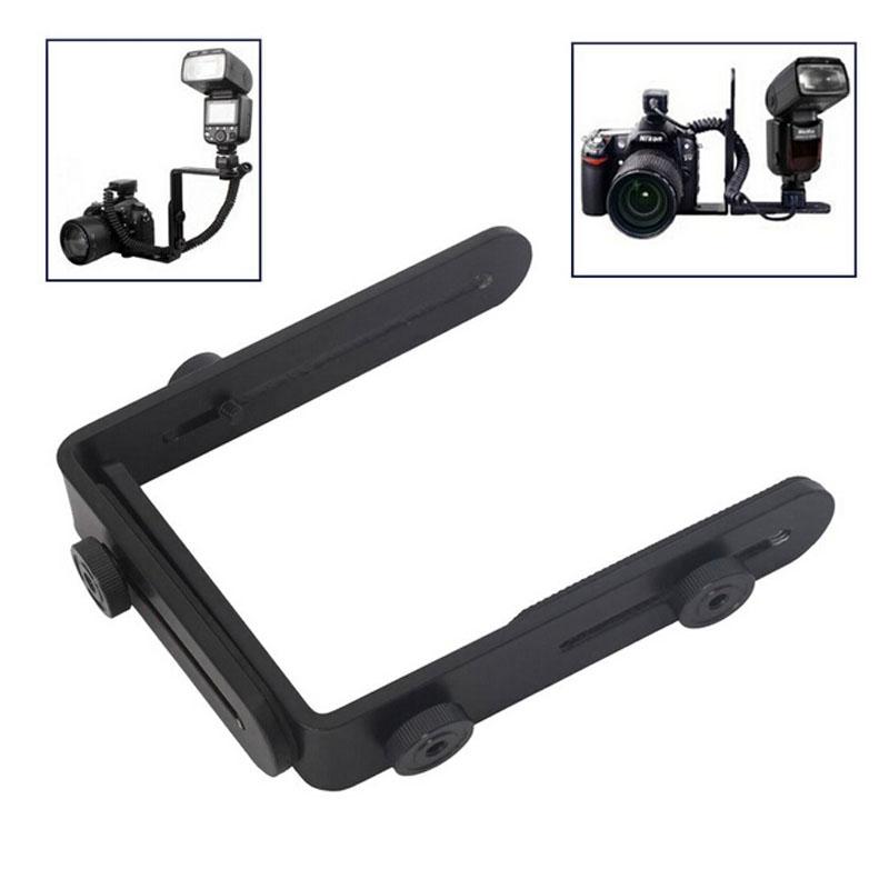 Гаджет  Wholesale camera flash bracket L bracket bilateral frame twin double L bracket L-bracket None Бытовая электроника