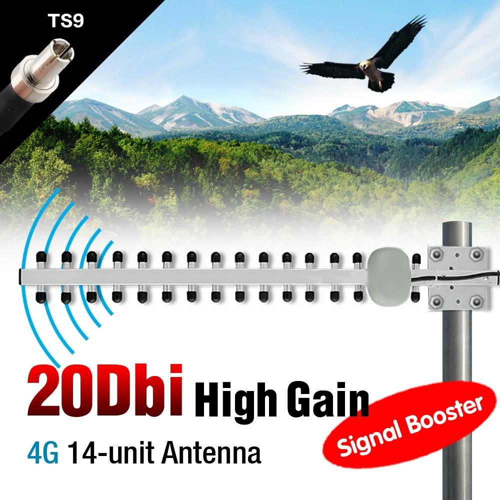 Sale 2016 High Pefermance Yagi WiFi Antenna 20dBi TS9 Long Range High Gain Booster Directional 4G Router EL6156(China (Mainland))