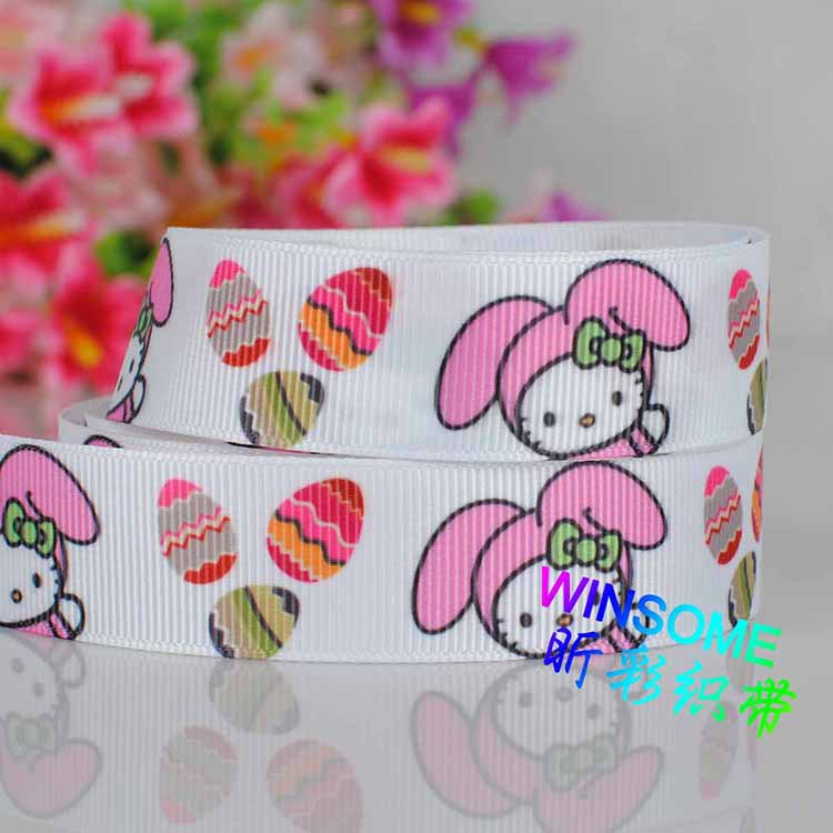 """wholesale 100yards 7/8"""" 22mm Easter colorful eggs printed DIY gift packing grosgrain ribbon(China (Mainland))"""