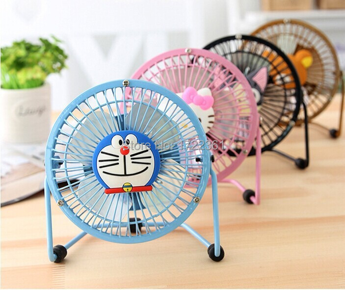 universal all use UBS connection Small mini fan computer usb electric fan small quieten classic Cat Shape fan 4inches diameter(China (Mainland))