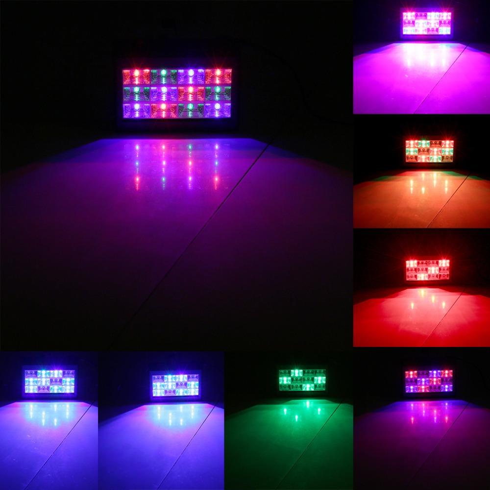 RGB 12LEDs Sound Activated Strobe Flash Light Stage Effect Lighting US Plug Popular New hot Store(China (Mainland))