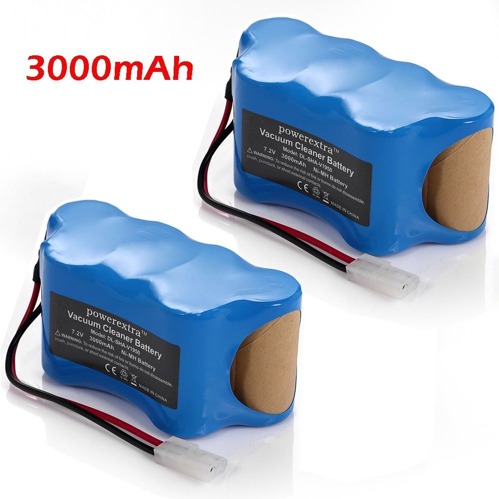 Powerextra 2 pack 3000mAh Replacement Battery For Shark Vacuum Cleaner batteries 7.2v Sweeper Euro-Pro V1950 VX3 XB1918 V1917(China (Mainland))