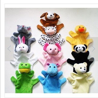Free shipping,5pcs/lot,Full animal even a finger mommas parent-child animal large puppet toy big even a finger