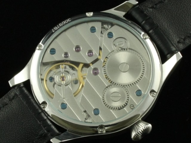 44 мм Парнис 6497 рука Обмотки Черный Циферблат Часы