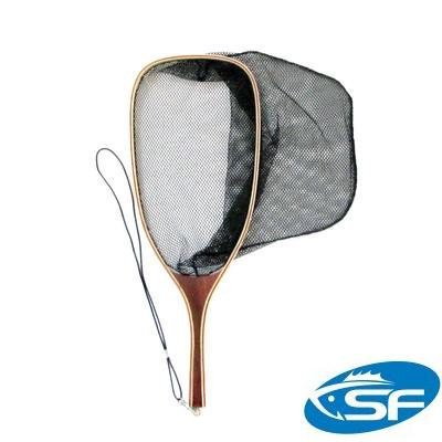 Wooden Fly Fishing Trout Landing Net with Mesh Bag Catch and Release<br><br>Aliexpress