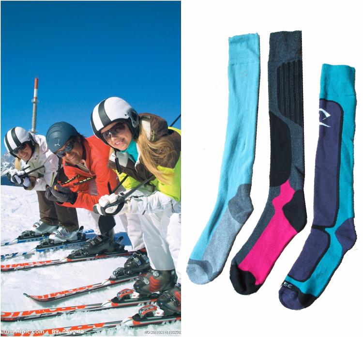 2015 Free shipping winter socks snowboard , cheap keep warm Woman ski socks best seller thermal thicken ski cycling socks(China (Mainland))