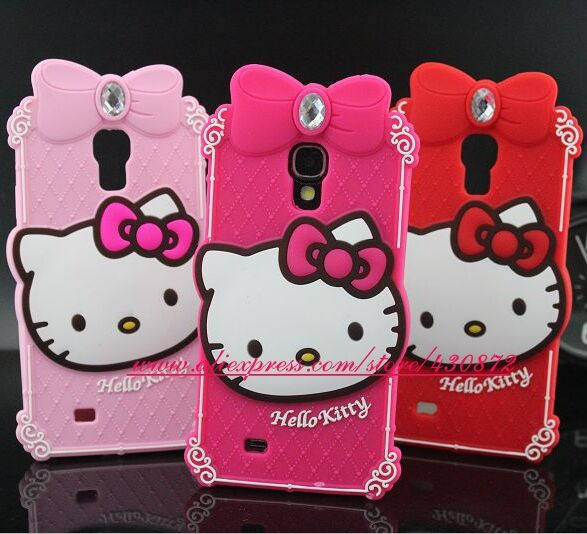 For Samsung galaxy s4 case 3D Silicon Diamond Hello Kitty cell phone Cover for Samsung Galaxy S4 i9500 9500 free shipping(China (Mainland))