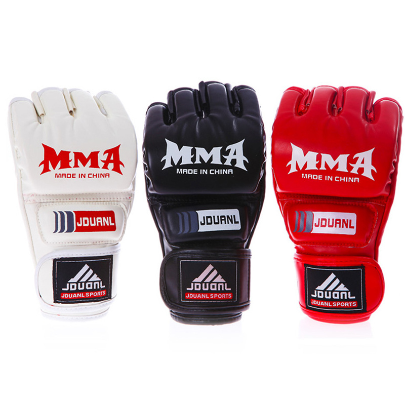 014 NEW ! MMA boxing gloves / extension wrist leather / MMA half fighting Boxing Gloves/Competition Training Gloves <br><br>Aliexpress