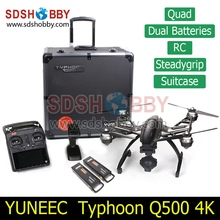 Yuneec Typhoon Q500  – 4K Camera – Handheld Gimbal ST10 10ch 5.8G FPV Double Battery and Case