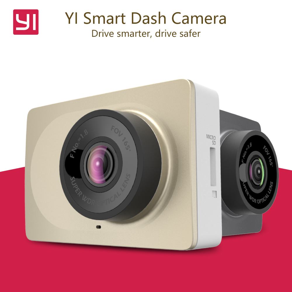Original International Edition Xiaomi YI Smart Car DVR WiFi Xiaoyi Dash Camera 165 Degree ADAS 1080P 60fps 2.7Inch Car Camera(China (Mainland))
