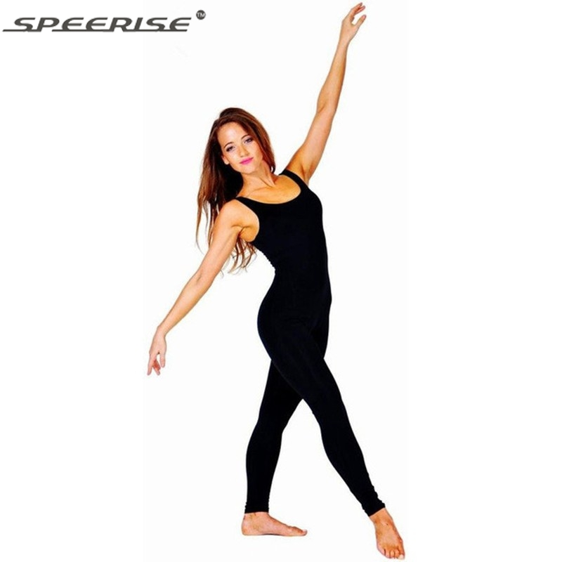 Plus Size Womens Lycra Spandex Unitard Tank Top One Piece Dance Ballet Gymnastics Leotard Catsuit Black Unitard Bodysuit(China (Mainland))