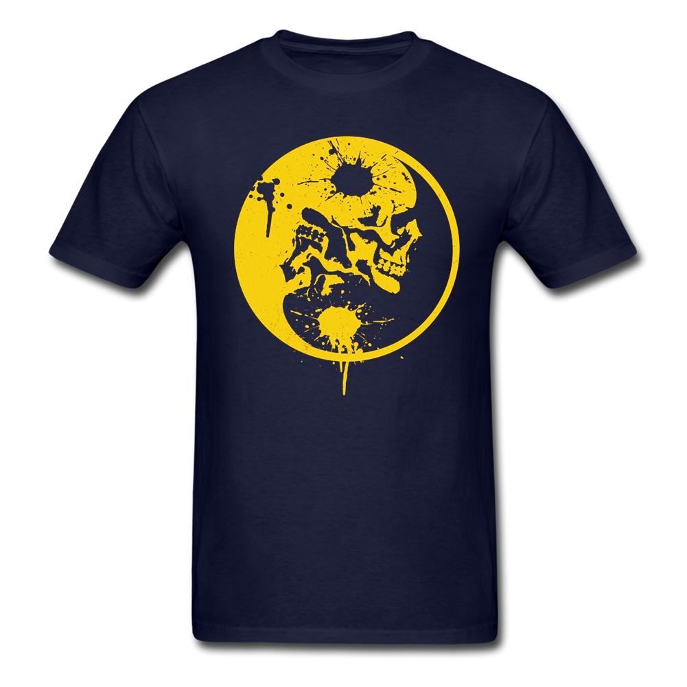 Yin Yang Skulls Customize on Mens t shirt Top Sale XS-XL t shirts Site Mens Clothing(China (Mainland))