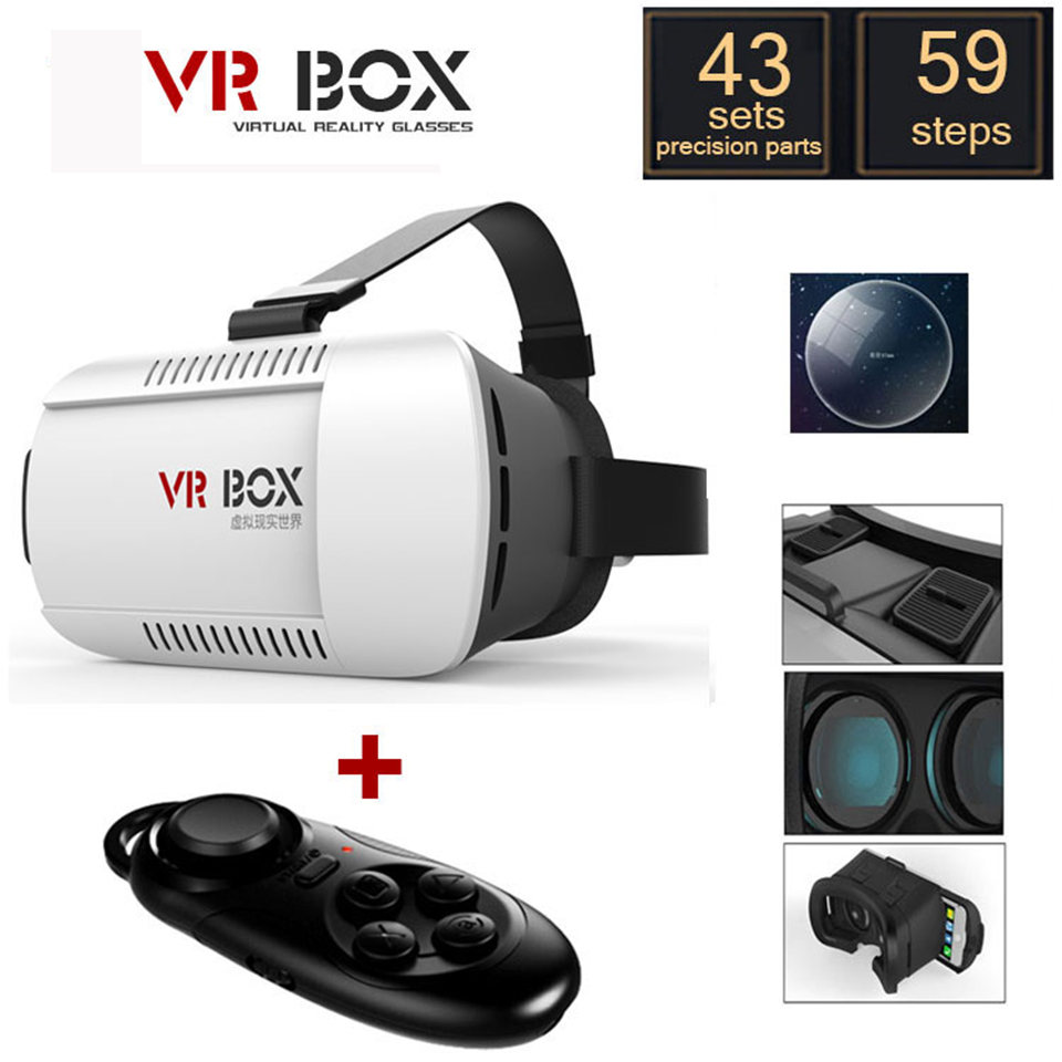 30 pcs/LOT Ones VR BOX Virtual Reality 3D Glasses+bluetooth Controller oculus rift for 4.7- 6.0 inch samsung iphone all phone(China (Mainland))