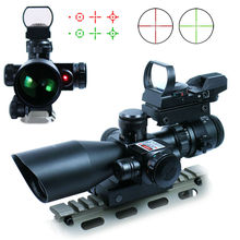 3in1 Sight 2.5-10X40 Red Dot Riflescope + Laser +Reflex 4 Reticle Tactical red dot scope(China (Mainland))