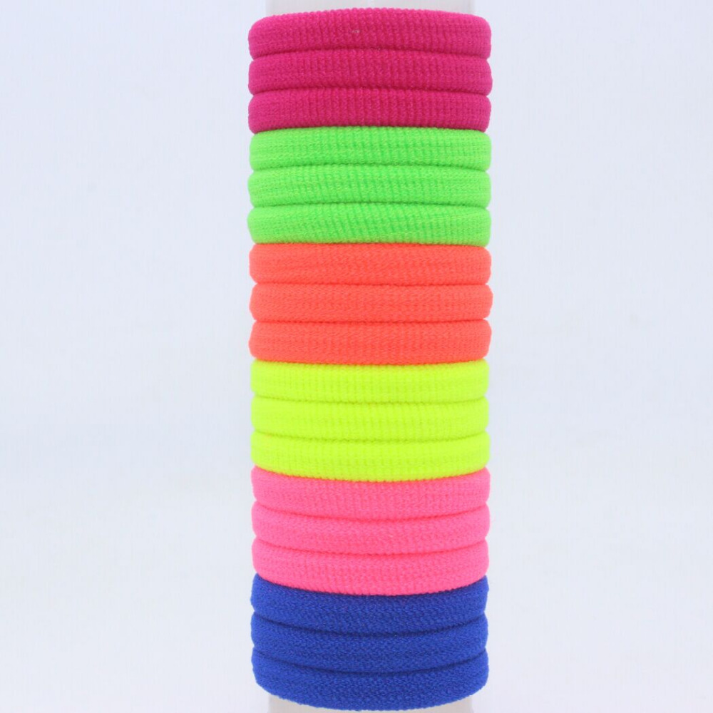 100pcs/lot 25mm seamless ultra elastic tousheng headband hair rope rubber band black scrunchy hair accessories for girls kids()