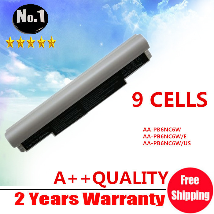 WHOLESALE New 9CELLS laptop battery for Samsung NC10 NC20 ND10 N110 N120 N130 N510 AA-PB6NC6W 1588-3366 AA-PB8NC6B FREE SHIPPING(China (Mainland))