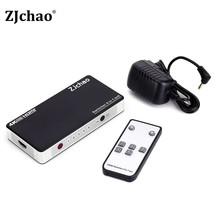 HDMI Switch Splitter IR Remote 5 Port HDMI Splitter 5 in1 Hub Box Auto Ultra For HDtv 4K x 2K 3D 1080p HD 1.4(China (Mainland))