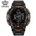 SMAEL brand led digital watches men sports 50M waterproof watch large dial hours military luminous wristwatches
