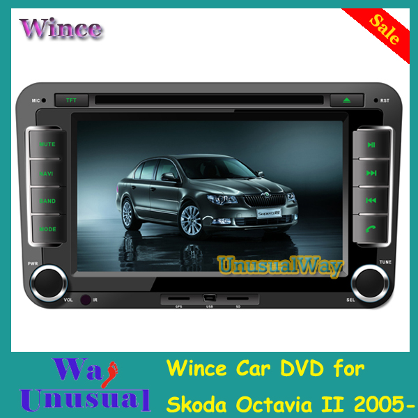 Free Shipping 2015 Top Wince Car Entertainment System DVD Player Radio For Skoda Octavia/Fabia /Superb With GPS Navi BT Free Map(China (Mainland))