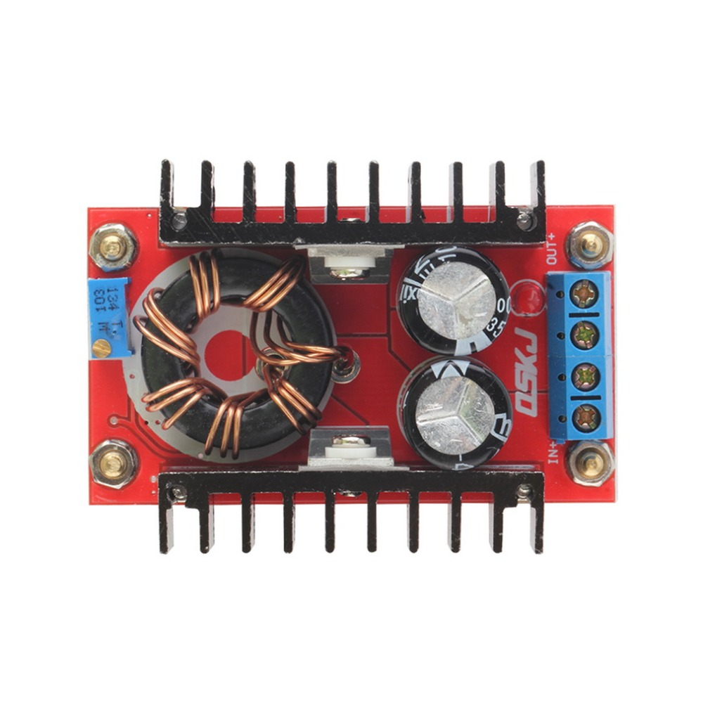 Гаджет  2015 Hot 1pc New 150W DC-DC Boost Converter 10-32V to 12-35V 6A Step Up Voltage Charger Power Free Shipping None Бытовая электроника