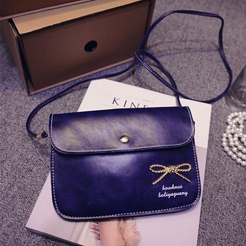 Hot sale 2015 Women PU Leather Shoulder Bag Bowknot lady mini Mobile phone Handbags Vintage Briefcase Cheap Gift Messenger Bags(China (Mainland))